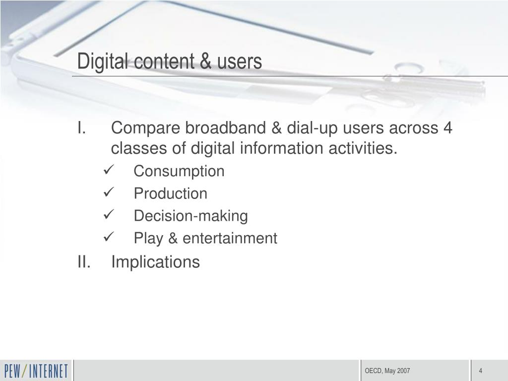 Digital content & users