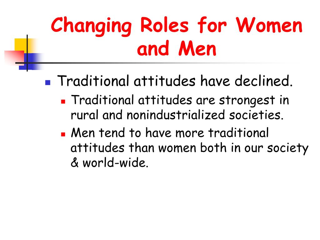 Changing Roles for Women and Men