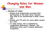changing roles for women and men36