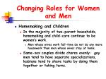 changing roles for women and men37