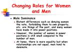 changing roles for women and men39