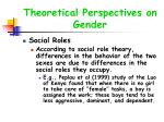 theoretical perspectives on gender24