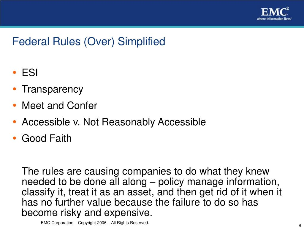 Federal Rules (Over) Simplified