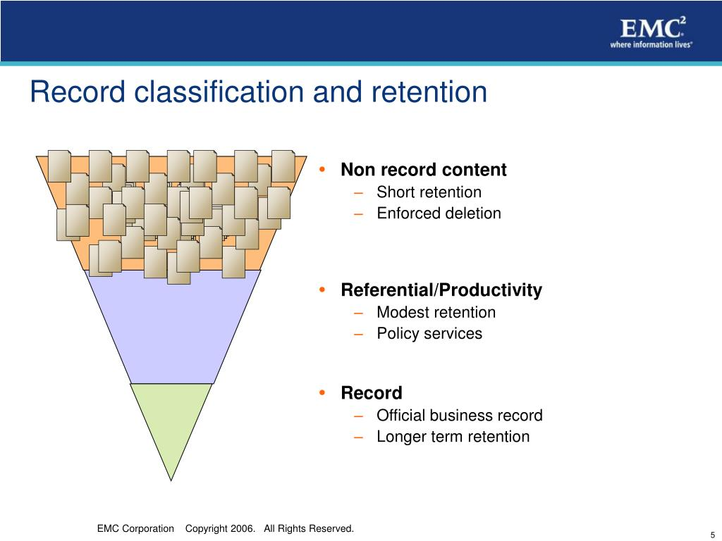 Record classification and retention