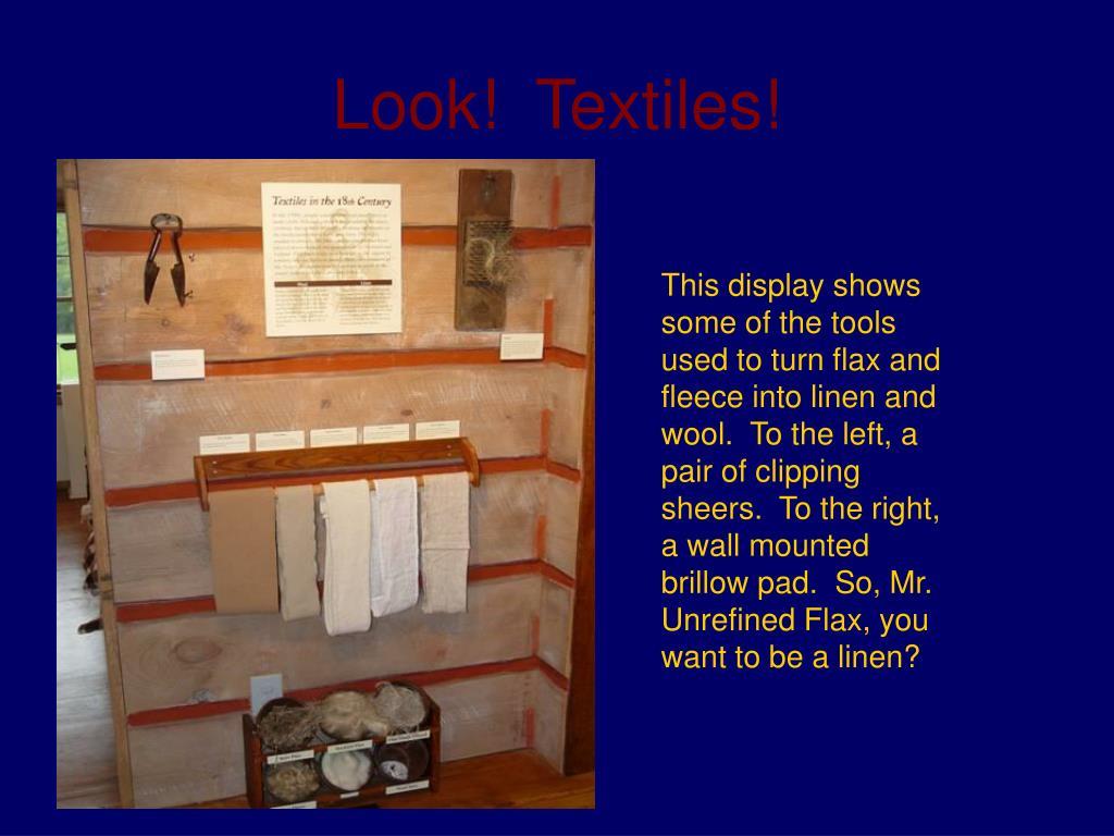 Look!  Textiles!