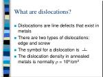 what are dislocations