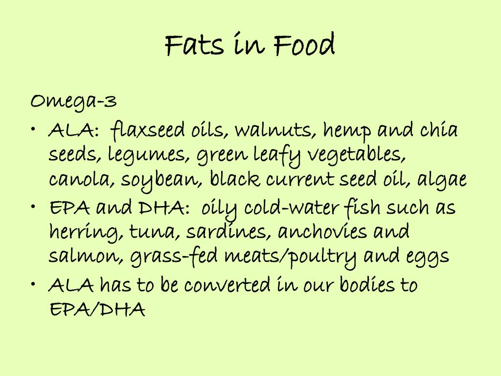 Fats in Food