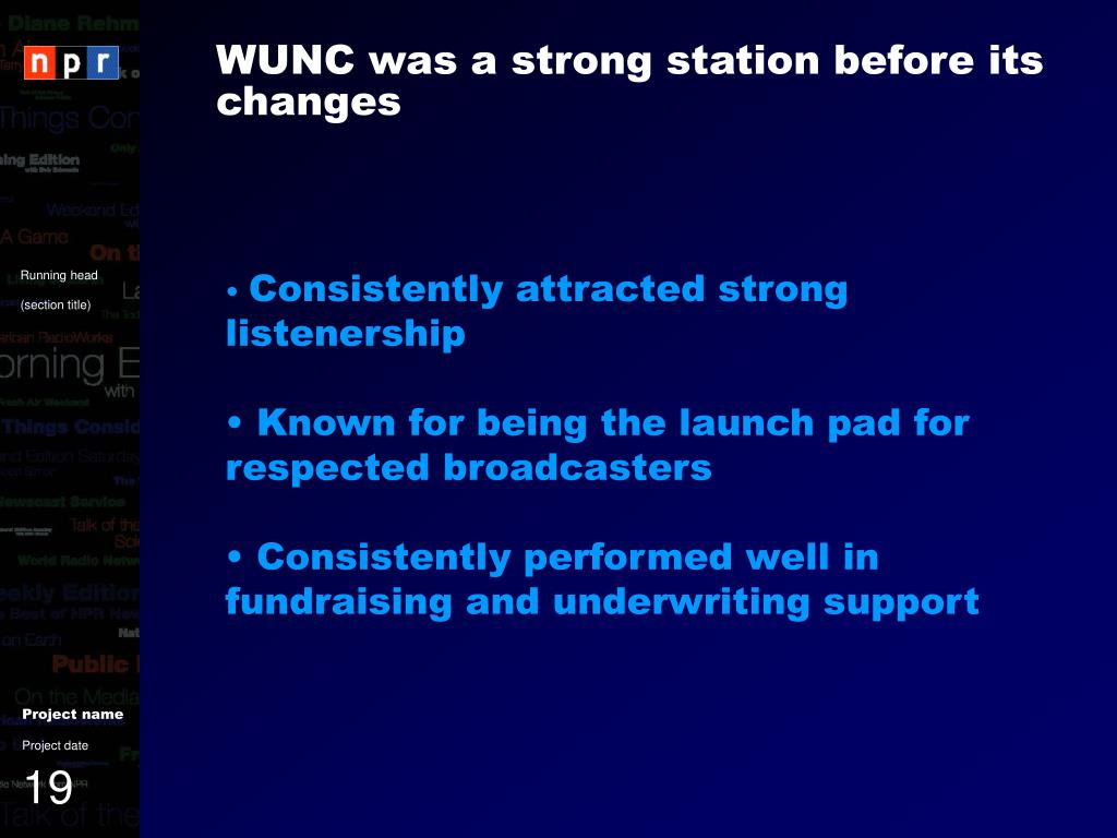 WUNC was a strong station before its changes
