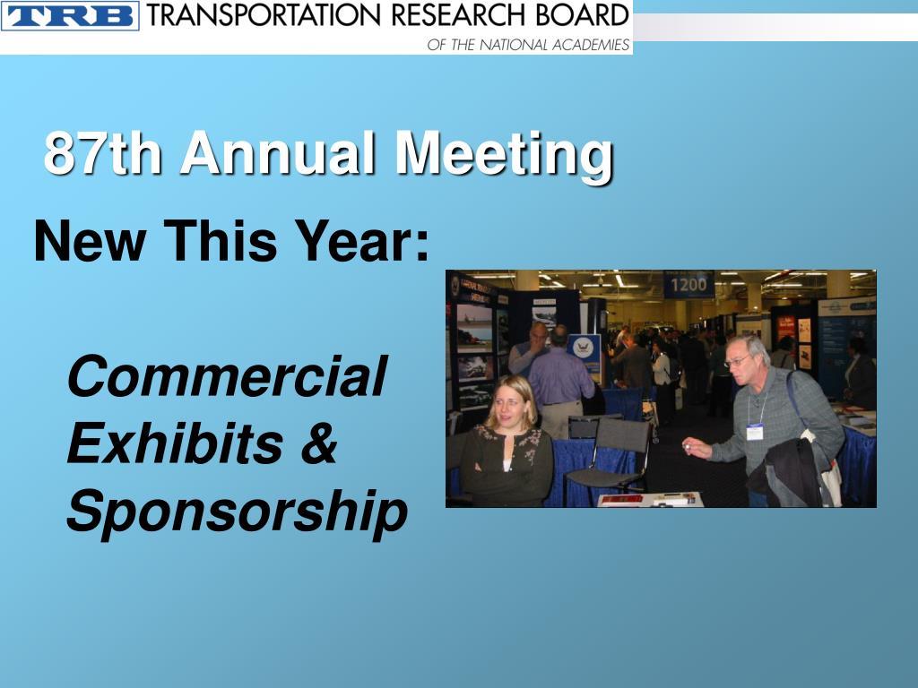 87th Annual Meeting