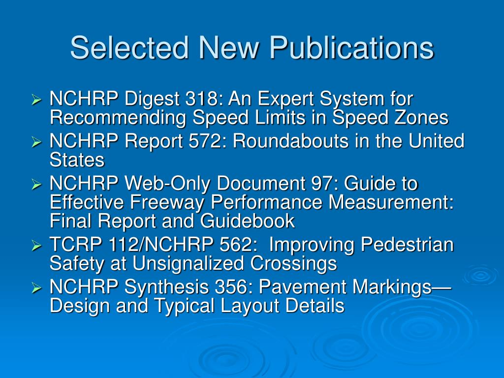 Selected New Publications