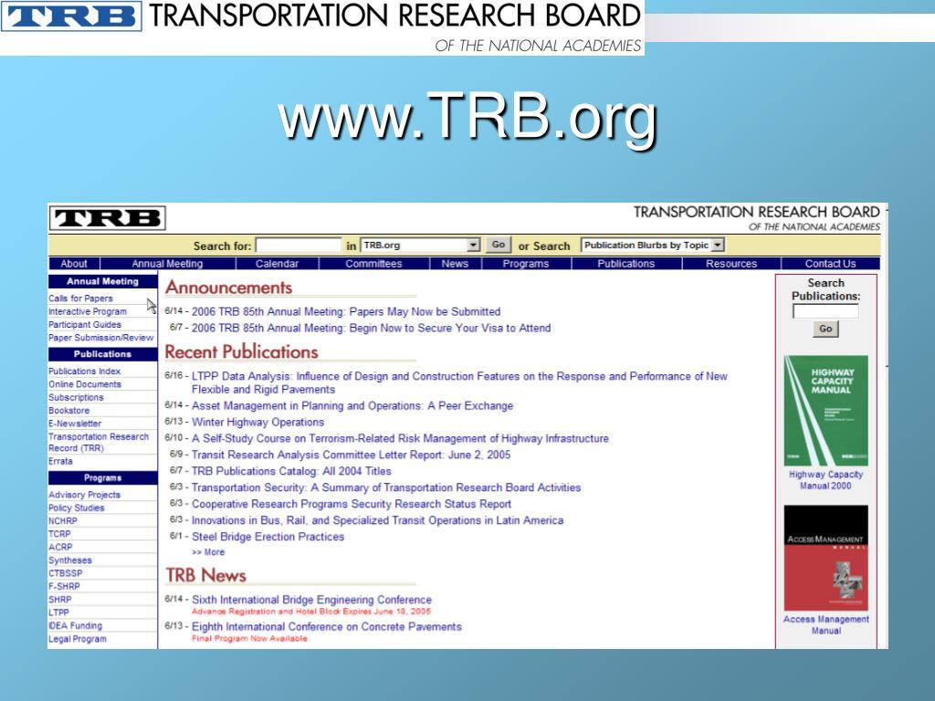 www.TRB.org