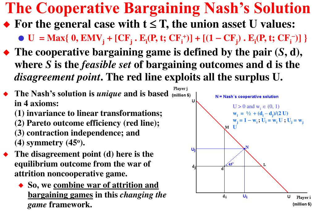The Cooperative Bargaining Nash's Solution