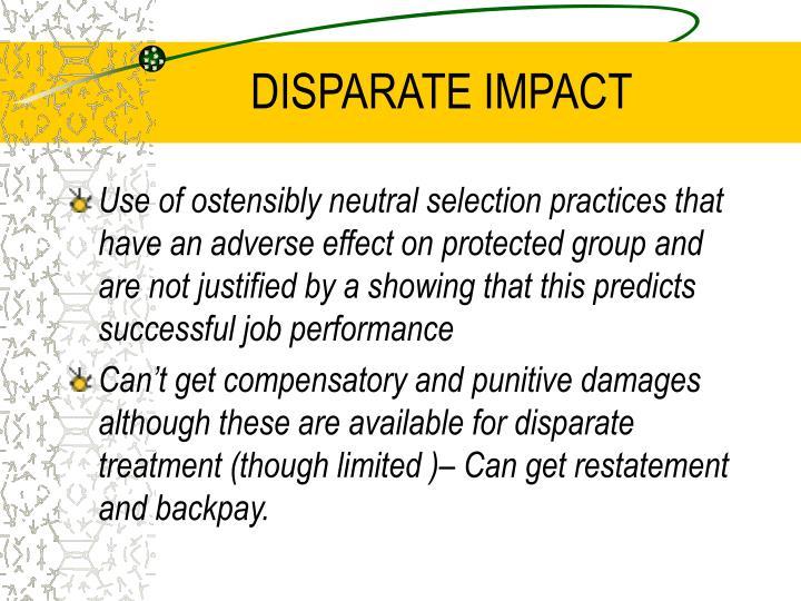 DISPARATE IMPACT