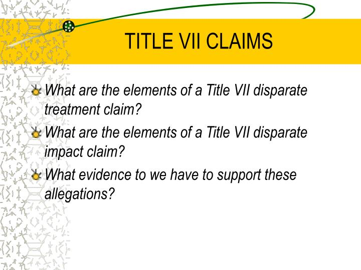 TITLE VII CLAIMS
