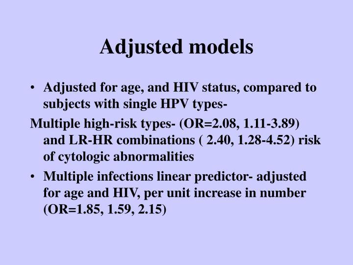 Adjusted models