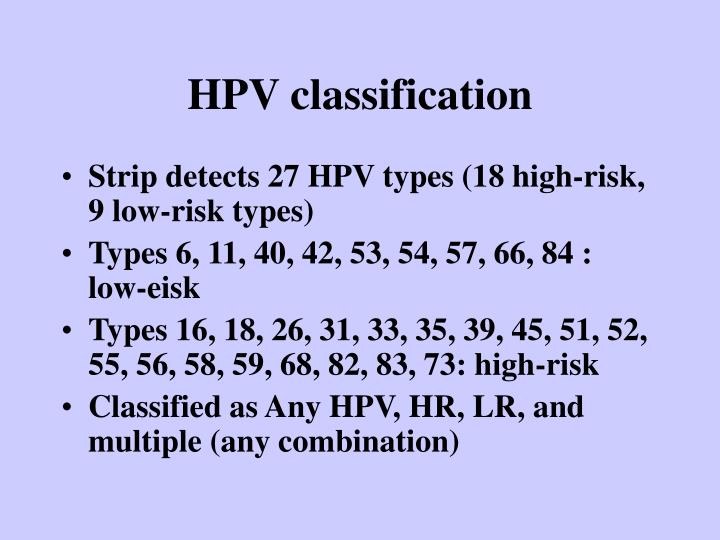 HPV classification