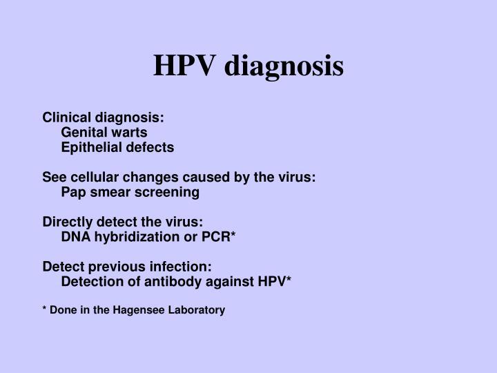 HPV diagnosis