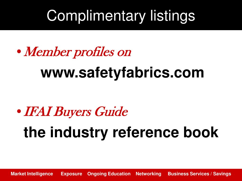 Complimentary listings