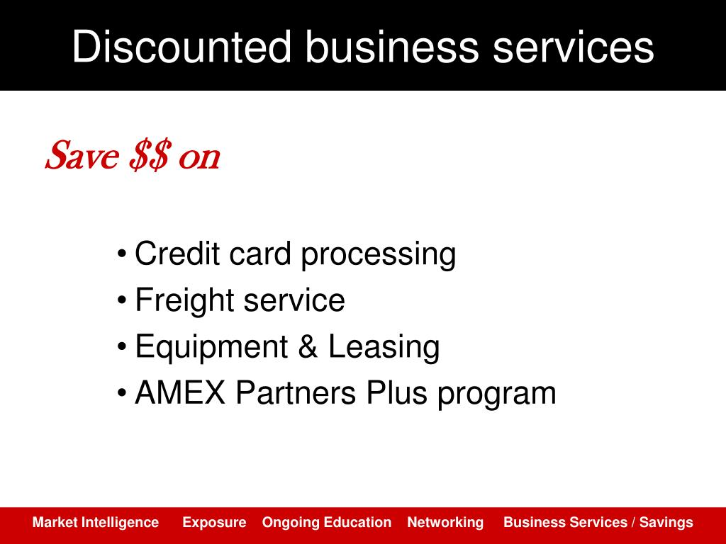 Discounted business services