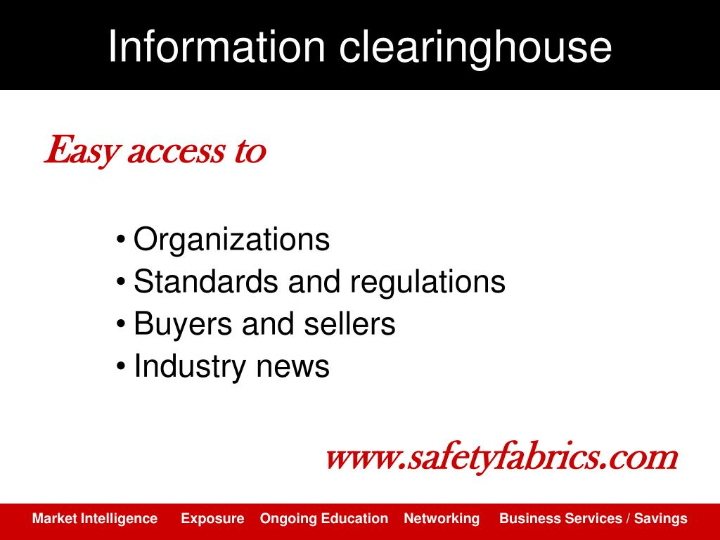 Information clearinghouse