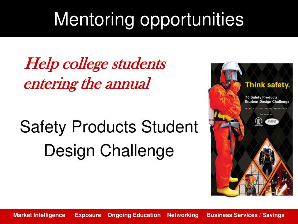 Mentoring opportunities