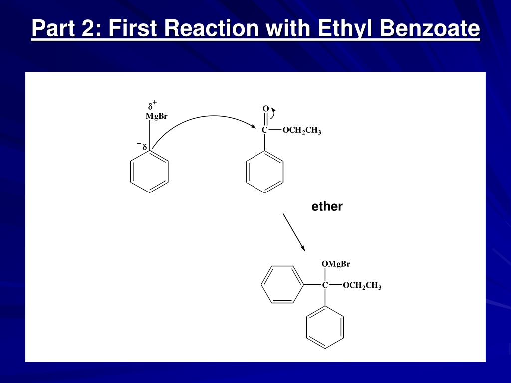 grignard synthesis of triphenylmethanol from benzophenone Addition of a grignard reagent to an ester: formation of a tertiary alcohol introduction: grignard reagents are important and versatile reagents in organic chemistry.