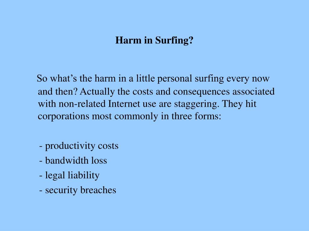 Harm in Surfing?