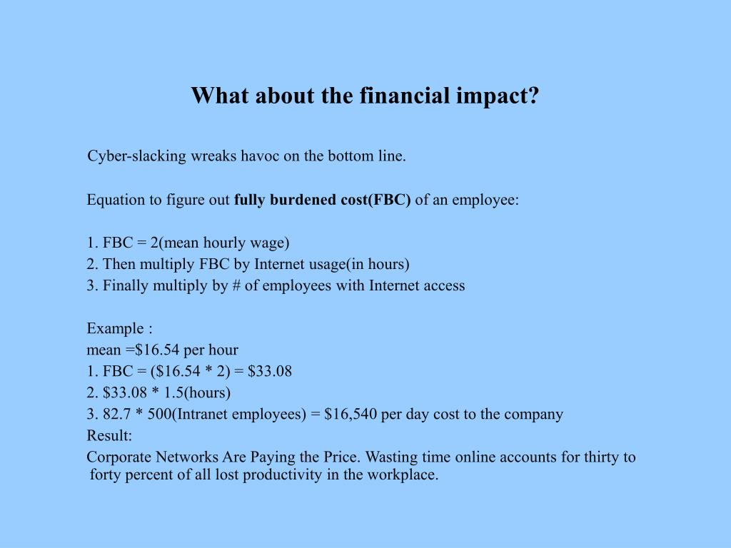 What about the financial impact?