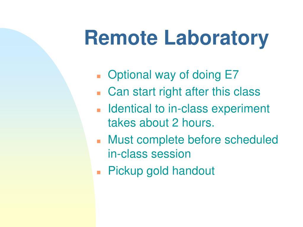 Remote Laboratory