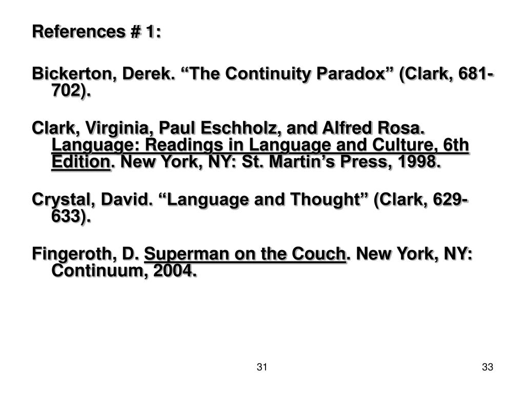 References # 1: