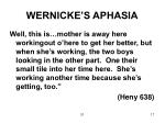 wernicke s aphasia
