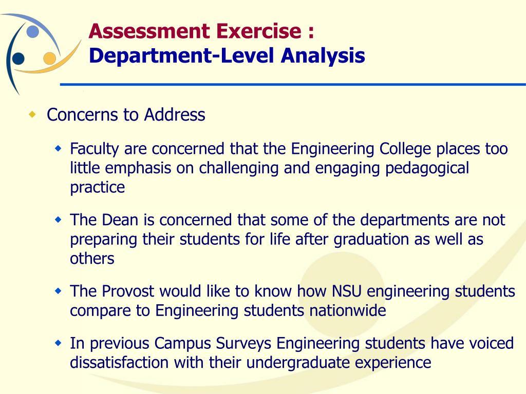 Assessment Exercise :