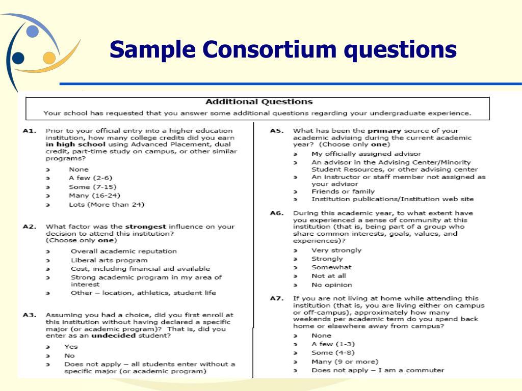 Sample Consortium questions