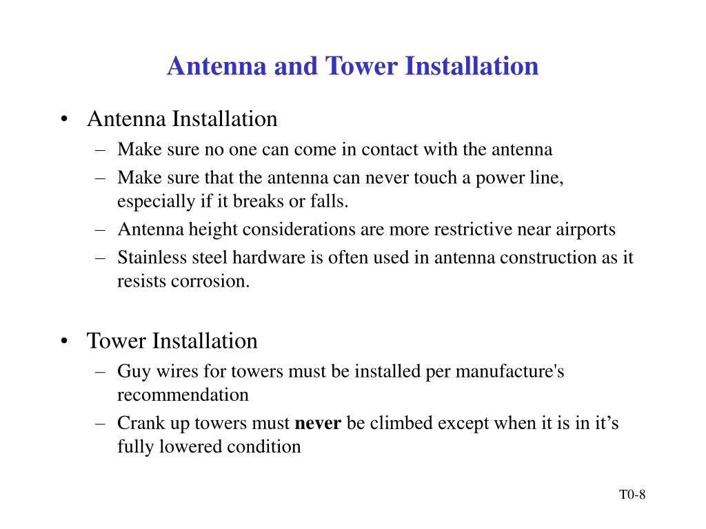 Antenna and Tower Installation