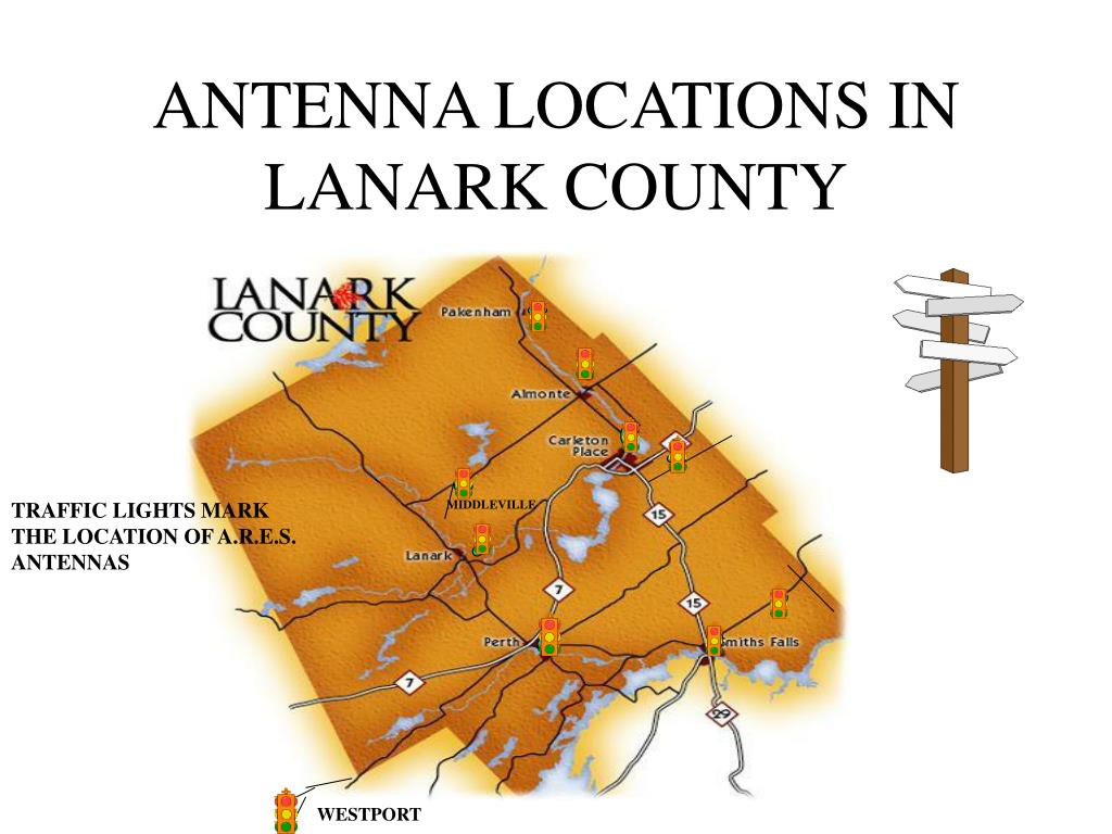 ANTENNA LOCATIONS IN LANARK COUNTY