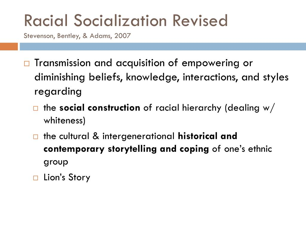 Racial Socialization Revised