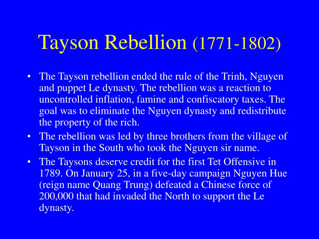 Tayson Rebellion