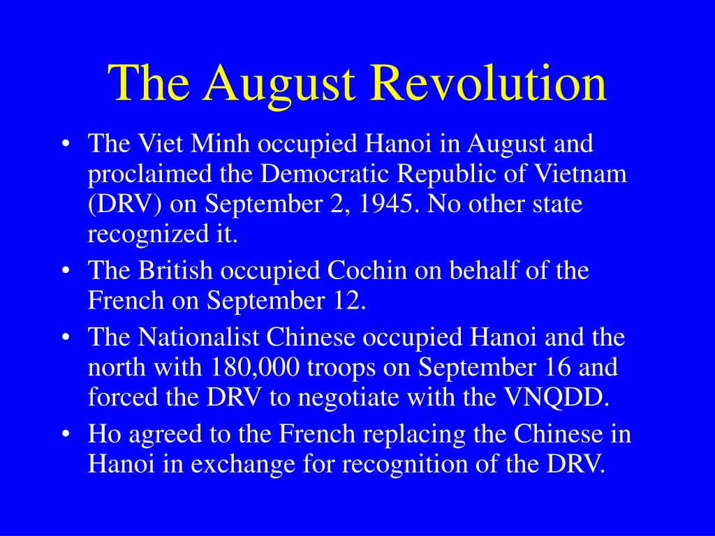 The August Revolution