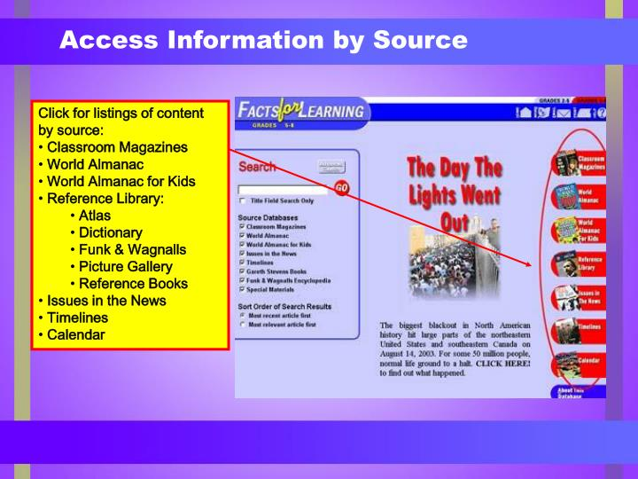 Access Information by Source