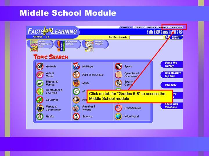 Middle School Module
