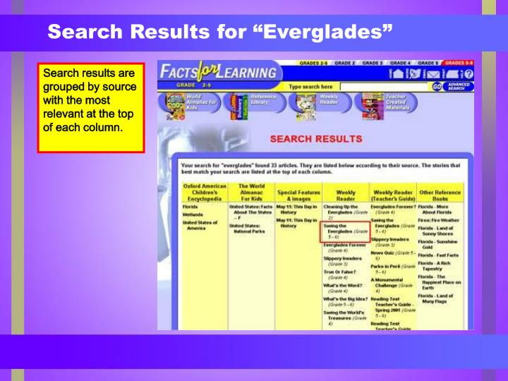 """Search Results for """"Everglades"""""""