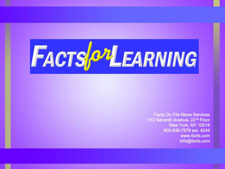 Facts On File News Services