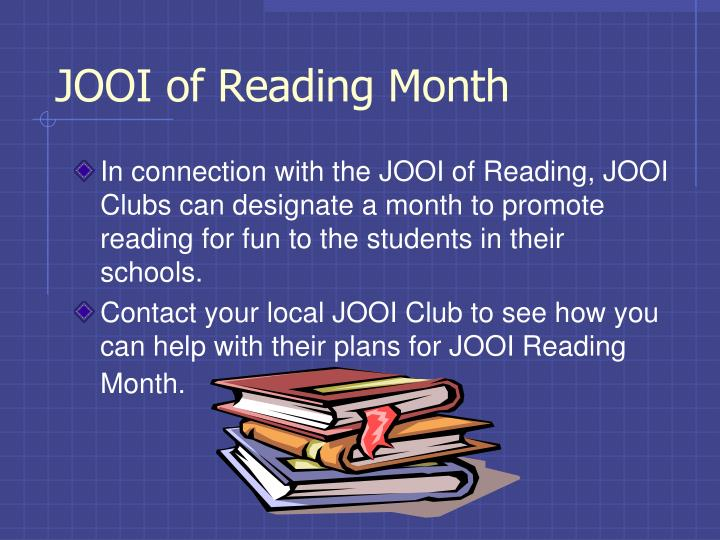 JOOI of Reading Month