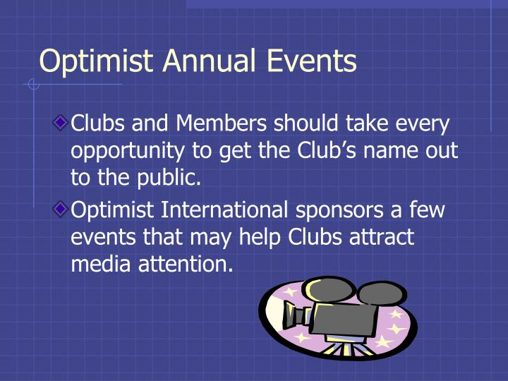 Optimist Annual Events