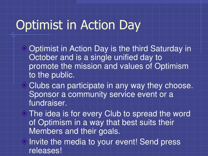 Optimist in Action Day