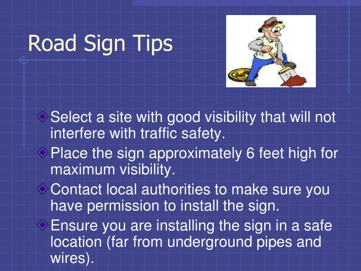 Road Sign Tips