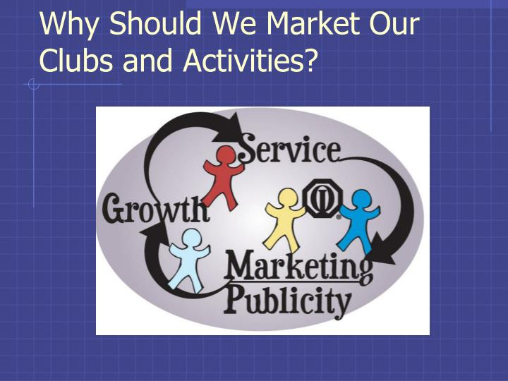 Why Should We Market Our Clubs and Activities?