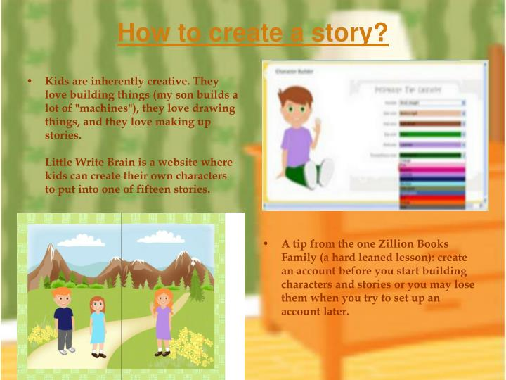 How to create a story