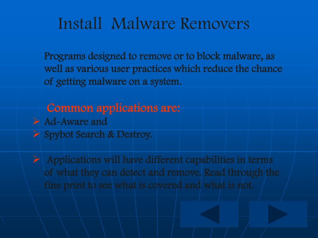 Install  Malware Removers