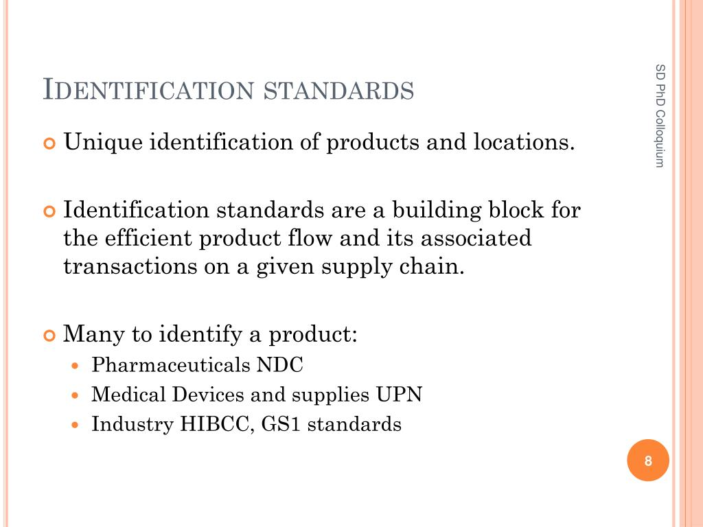 Identification standards